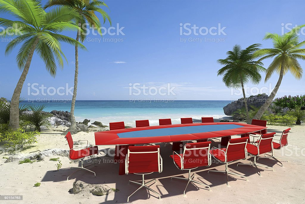 Meeting room at the beach royalty-free stock photo