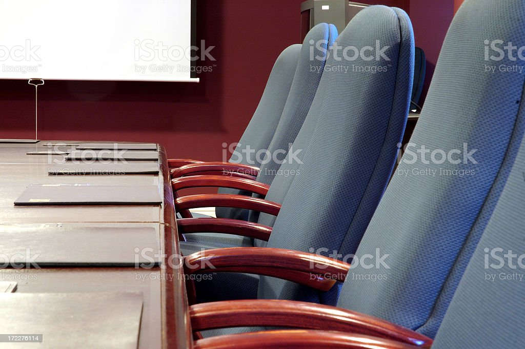 Meeting room - chairs stock photo