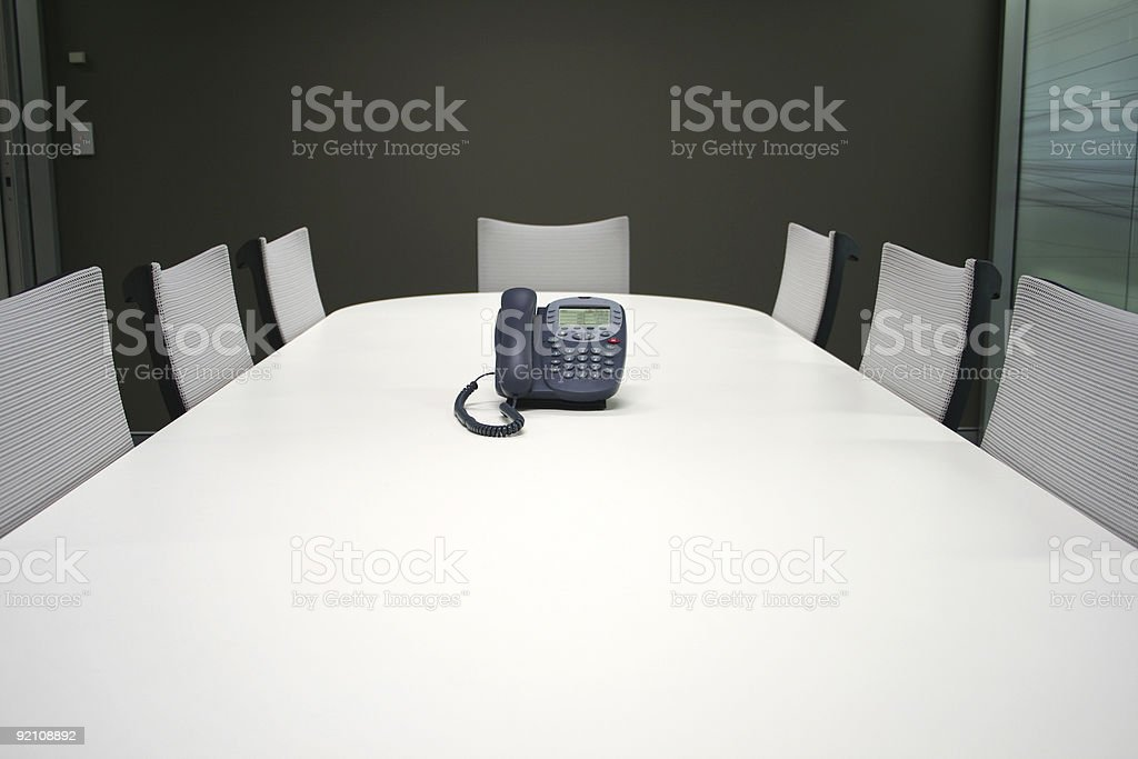 Meeting room table and seats royalty-free stock photo