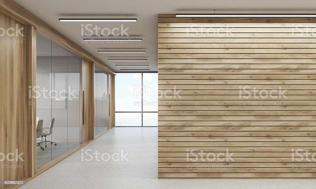 Meeting rooms and corridor stock photo