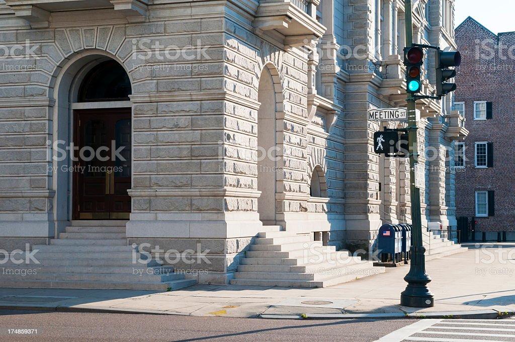 Meeting Street in Charleston South Carolina royalty-free stock photo