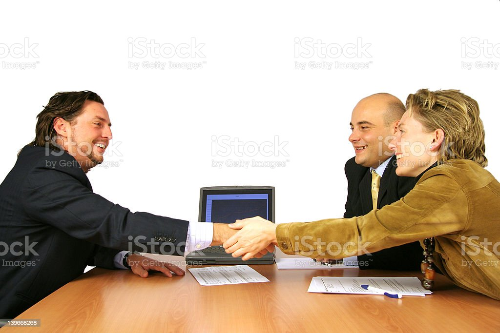 Meeting success hand shake royalty-free stock photo