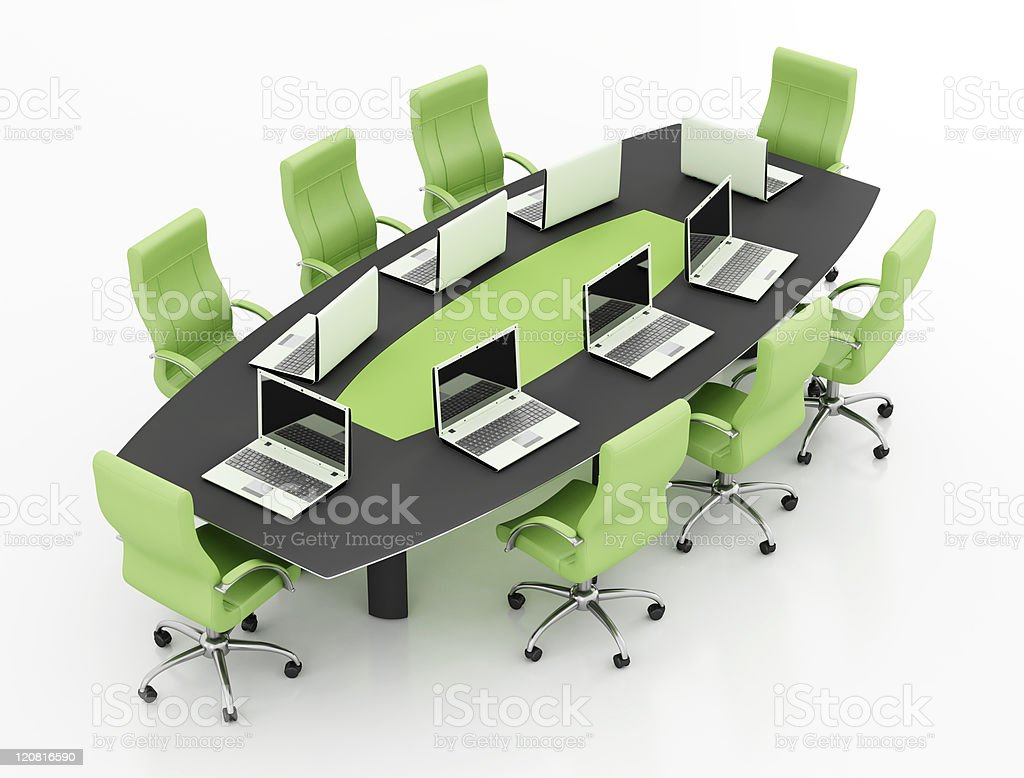 meeting table with notebook royalty-free stock photo