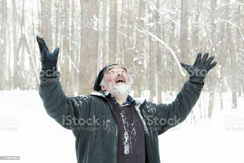 meeting the winter royalty-free stock photo
