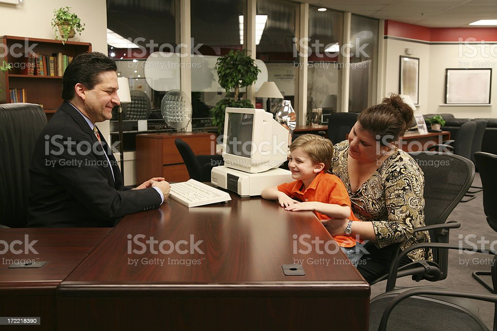 Meeting with a customer royalty-free stock photo
