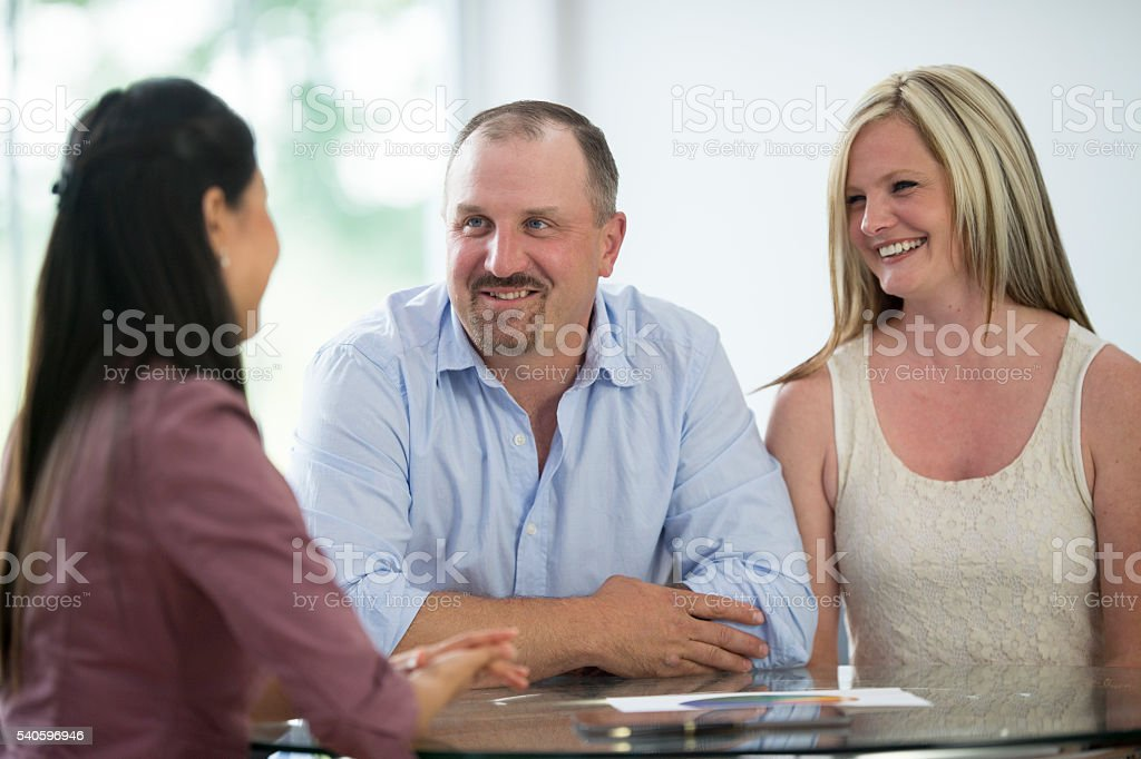Meeting with a Personal Financier stock photo