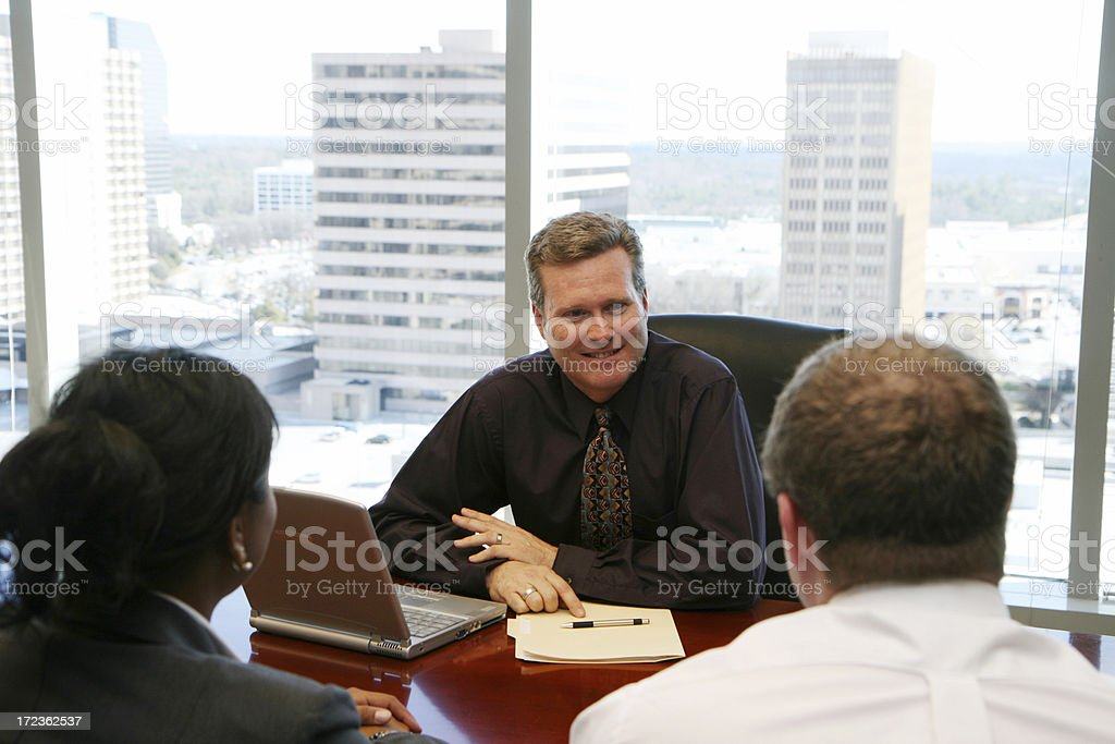 Meeting with Clients royalty-free stock photo