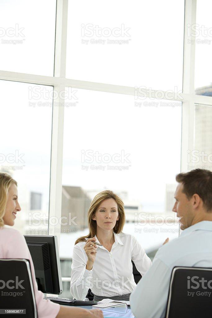 Meeting with customer advisor royalty-free stock photo