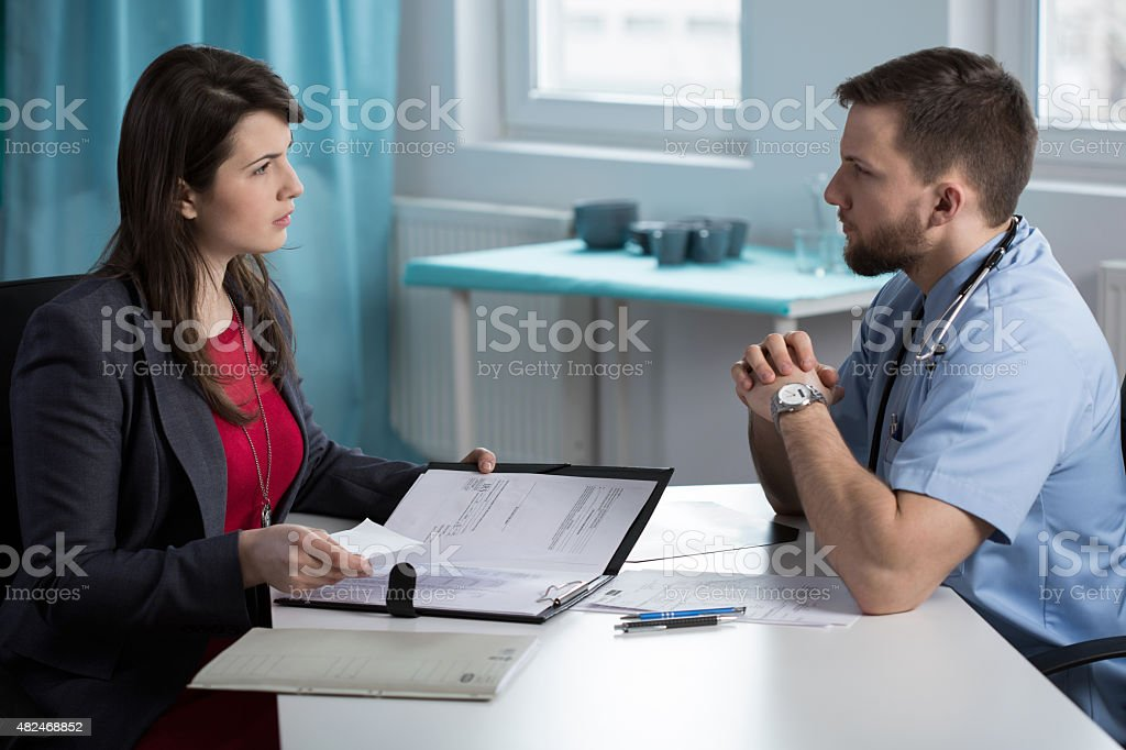 Meeting with lawyer stock photo