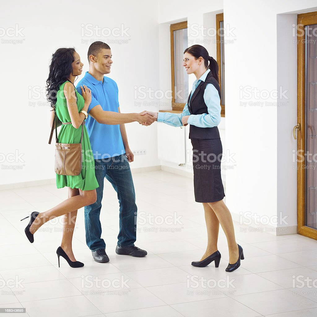 Meeting with real estate agent royalty-free stock photo