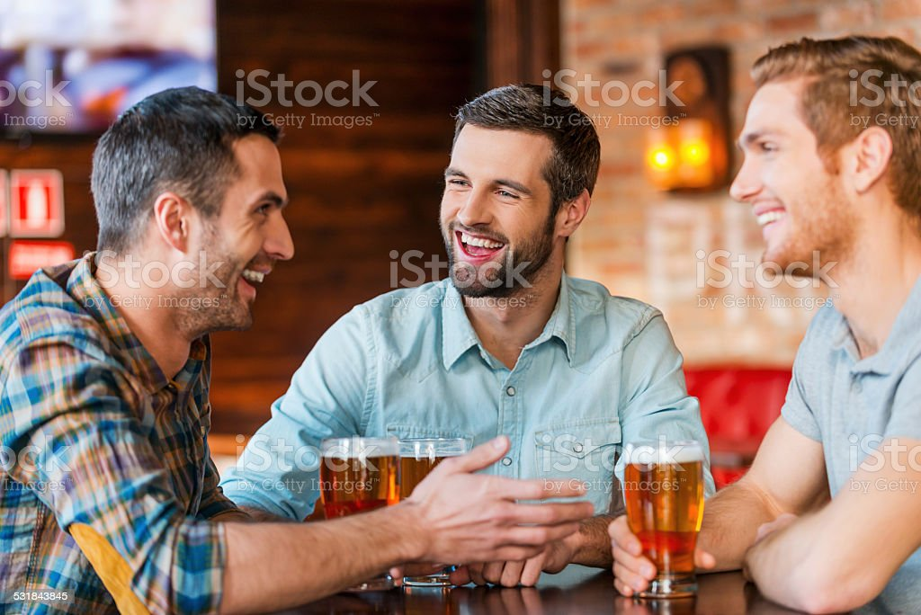Meeting with the best friends. stock photo