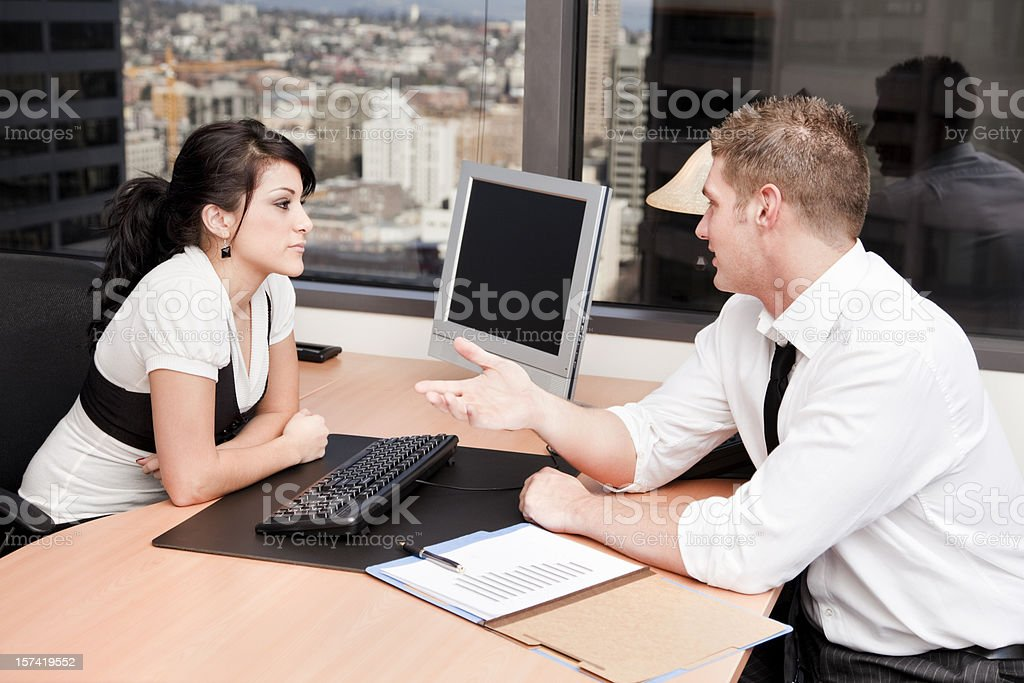 Meeting with The Boss royalty-free stock photo