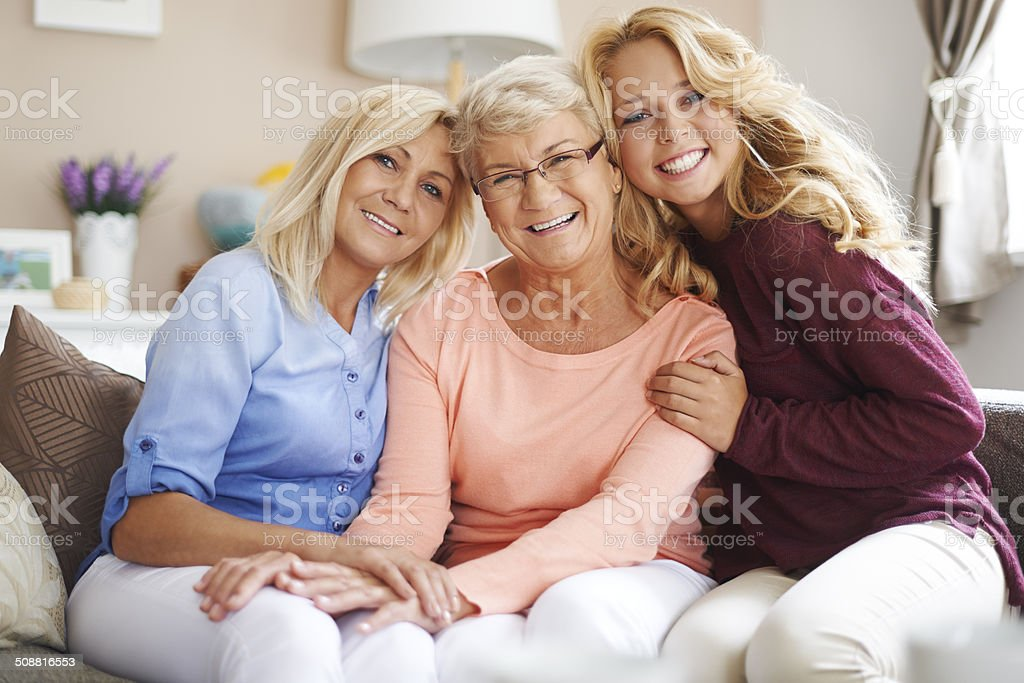 Meeting with the close family is very important for them stock photo