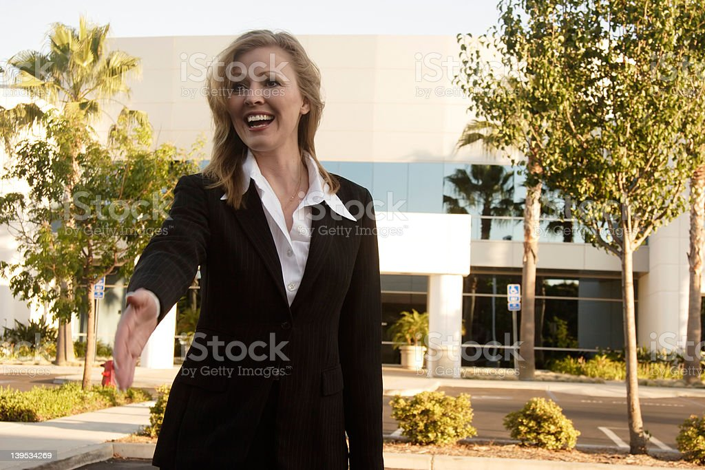 Meeting with the real estate agent royalty-free stock photo