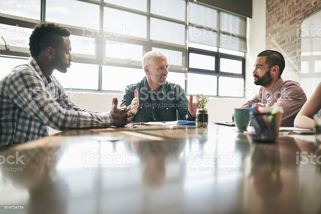 Meetings are a great way to communicate stock photo