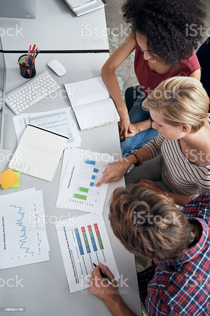 Meetings keep them on the same page stock photo