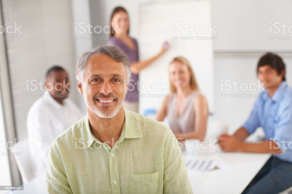 Meetingup  with colleagues stock photo