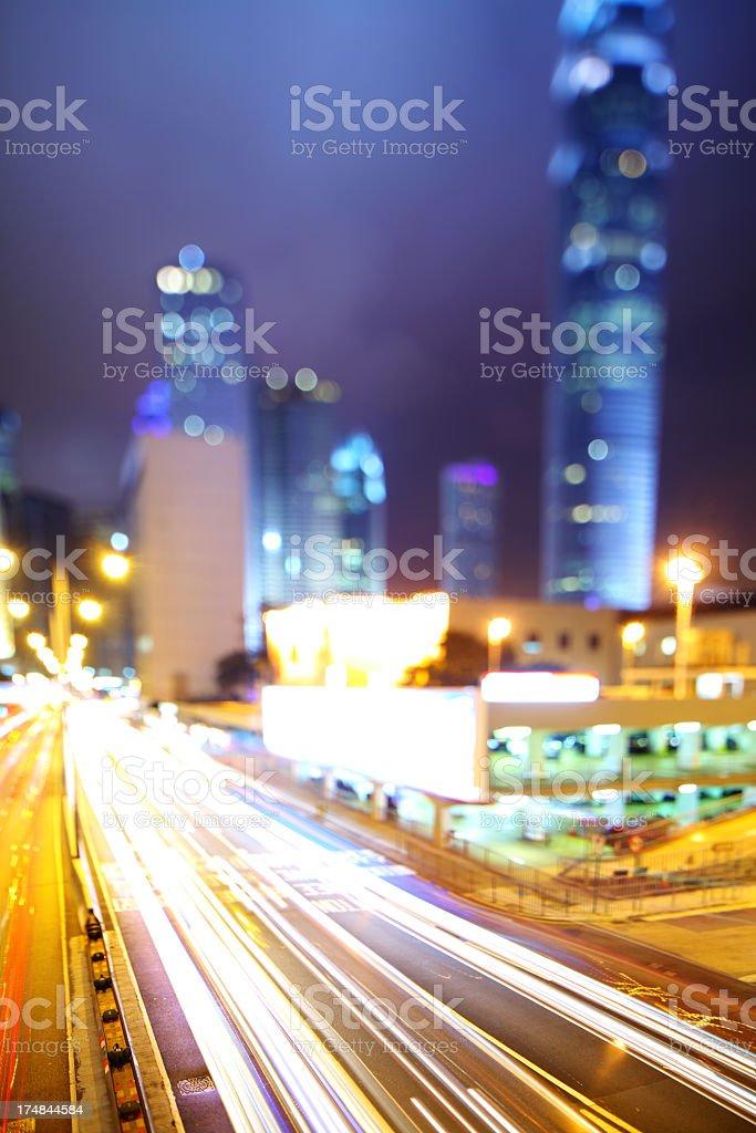 mega city at night royalty-free stock photo