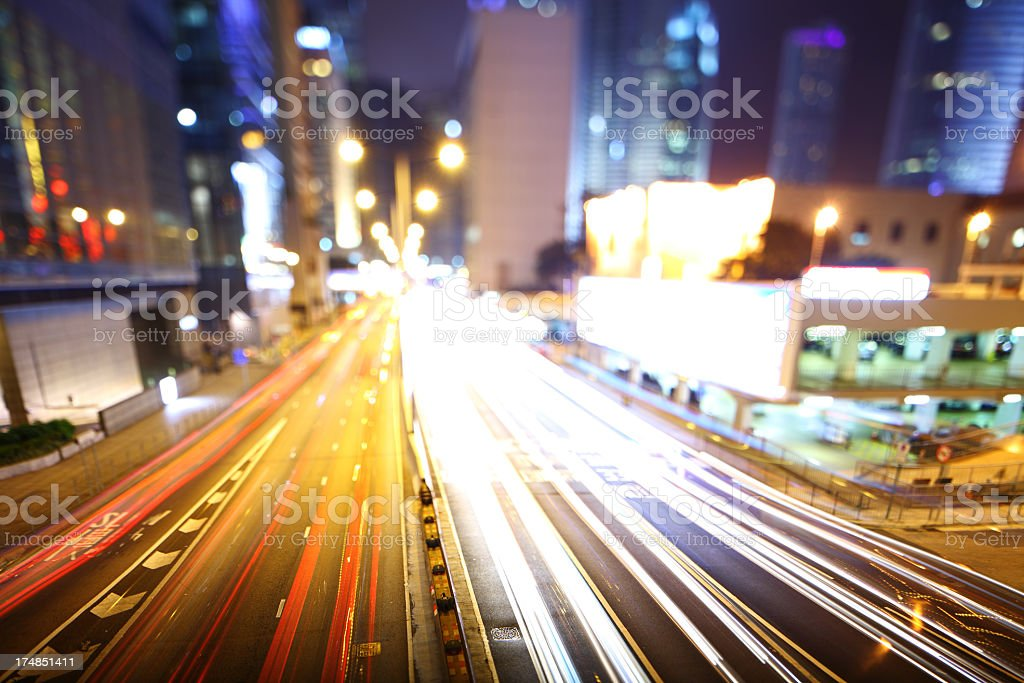 mega city at night royalty-free stock photo