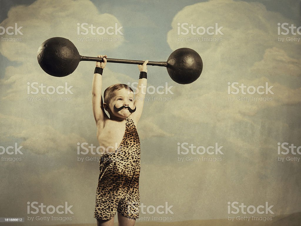 Mega Muscle stock photo