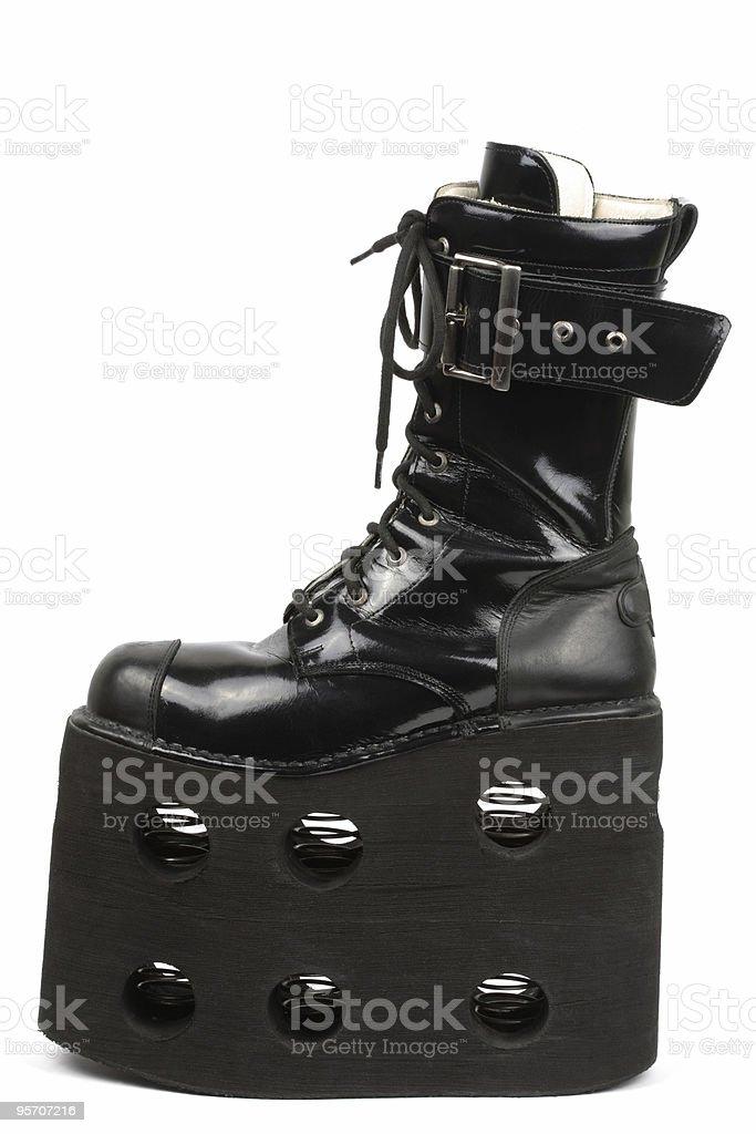 Mega platform boot, isolated stock photo