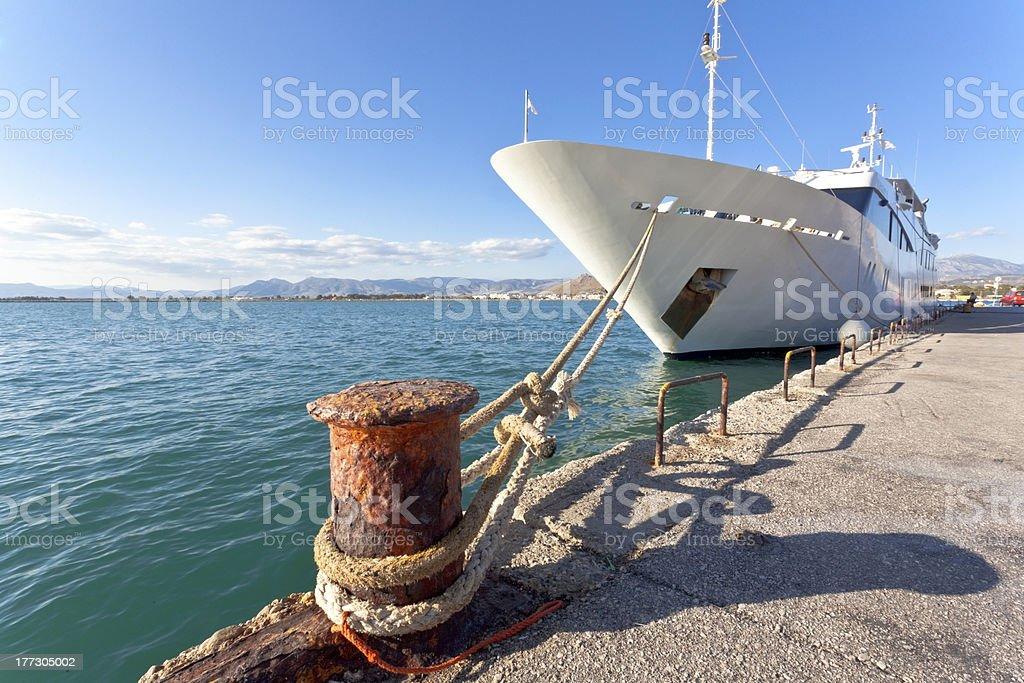 Mega yacht royalty-free stock photo