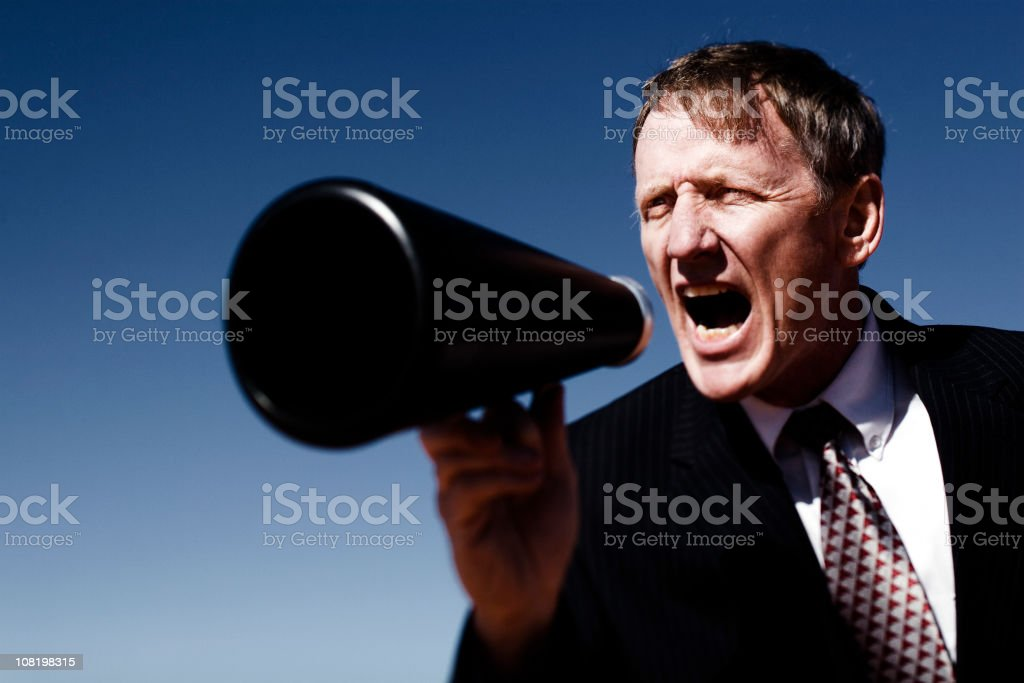 Mega Yell royalty-free stock photo