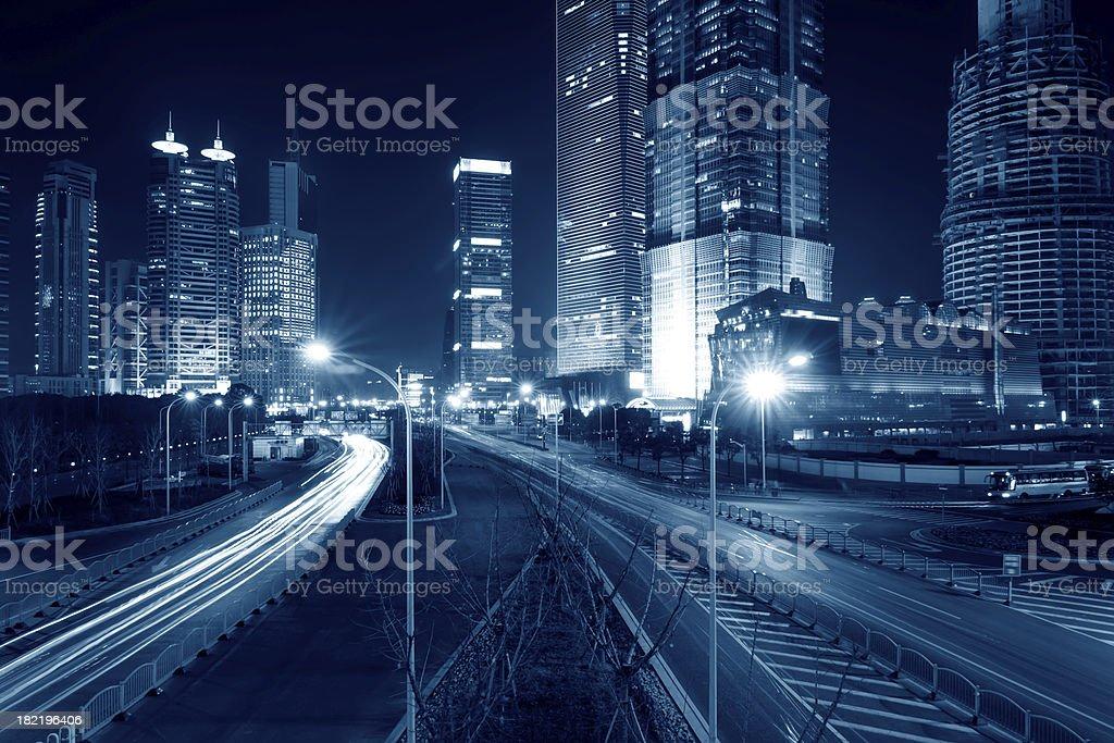 Megacity Highway in China royalty-free stock photo