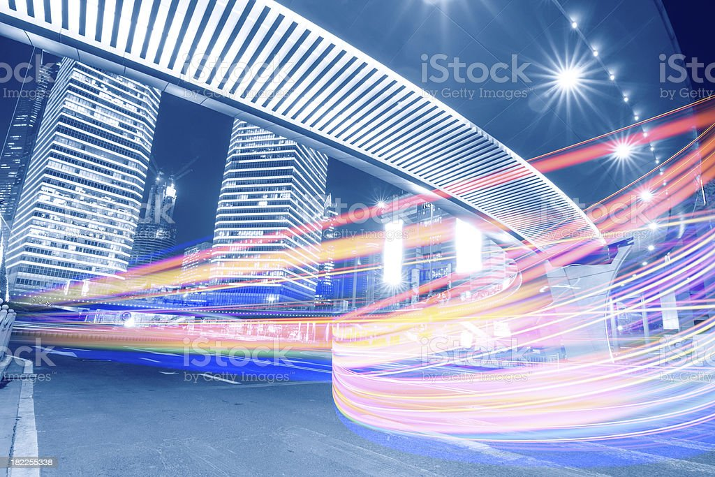 Megacity Highway in China royalty-free stock photo