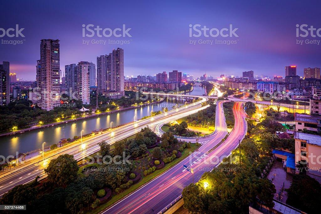 Megacity Highway stock photo