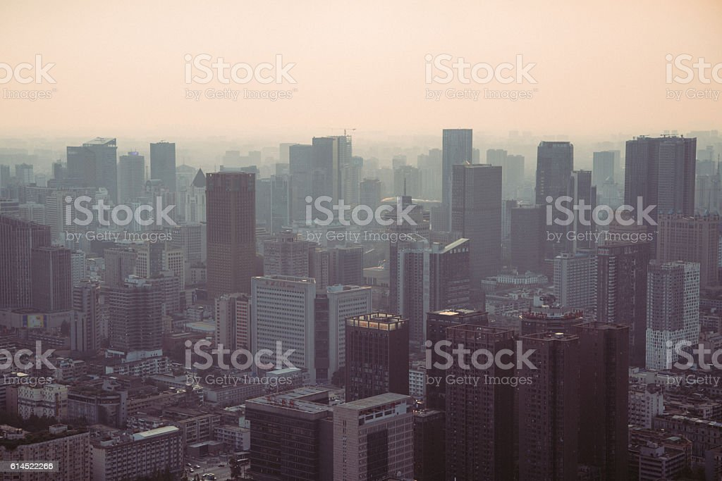 Megacity skyline stock photo