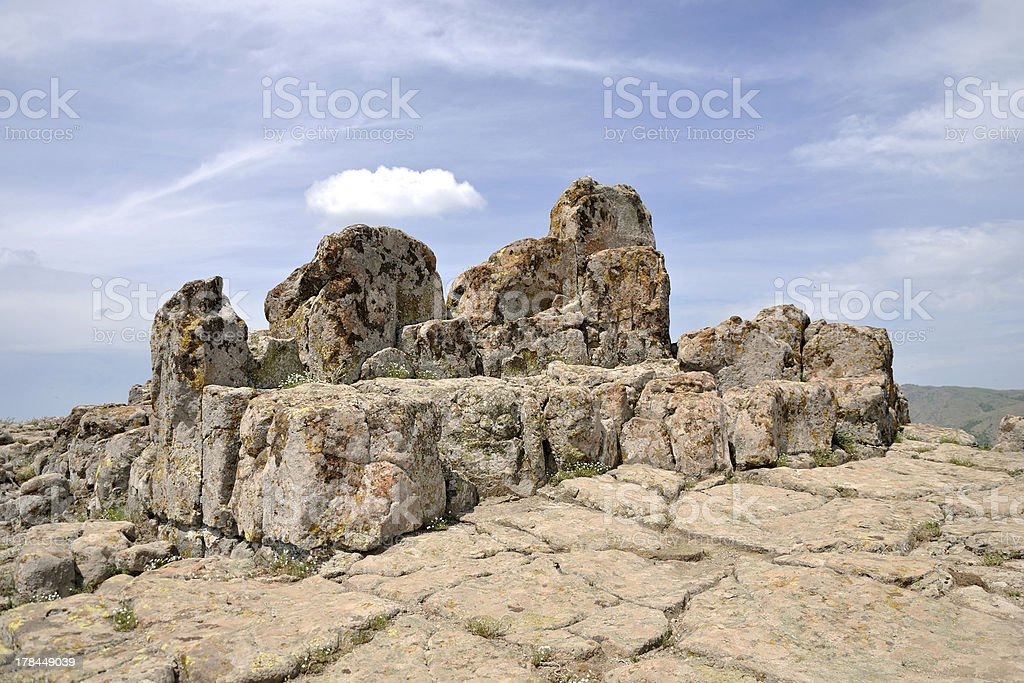 Megalithic architecture - observatory Kokino royalty-free stock photo