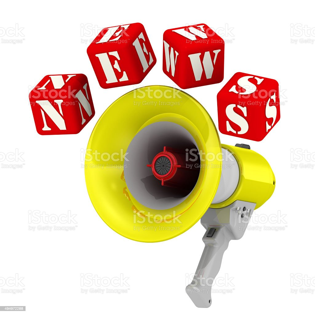 Megaphone and the word NEWS stock photo