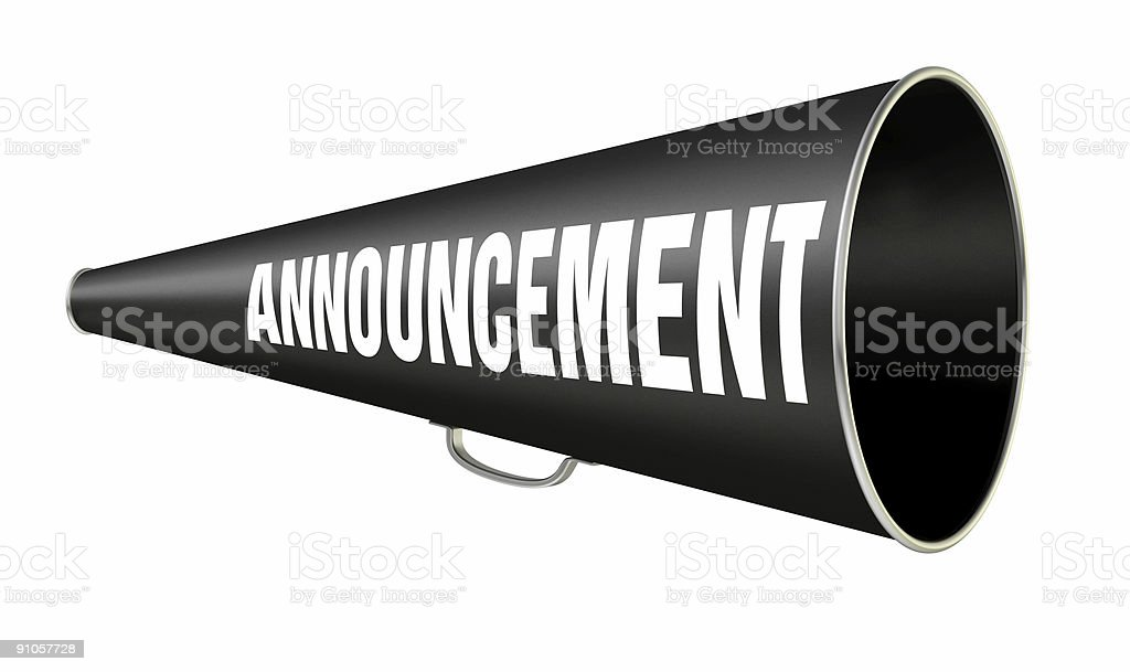 Megaphone Announcement royalty-free stock vector art