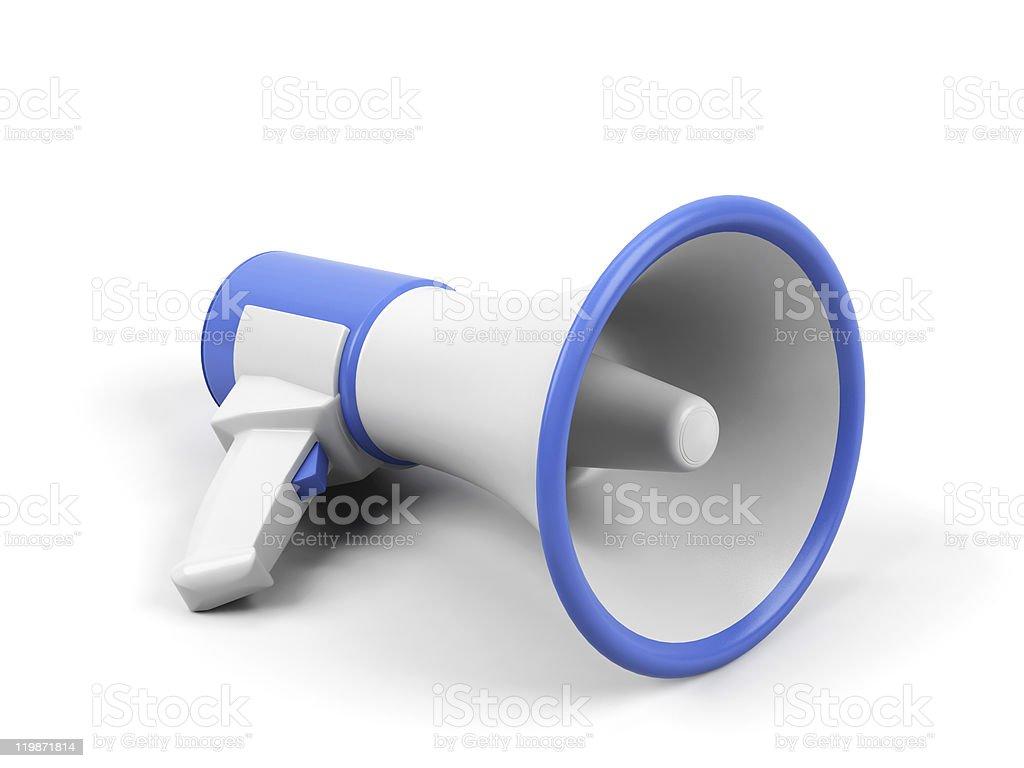 Megaphone isolated on white background. stock photo