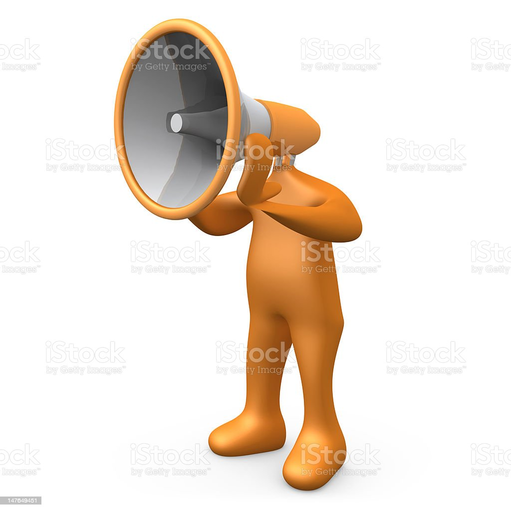 Megaphone Person royalty-free stock photo