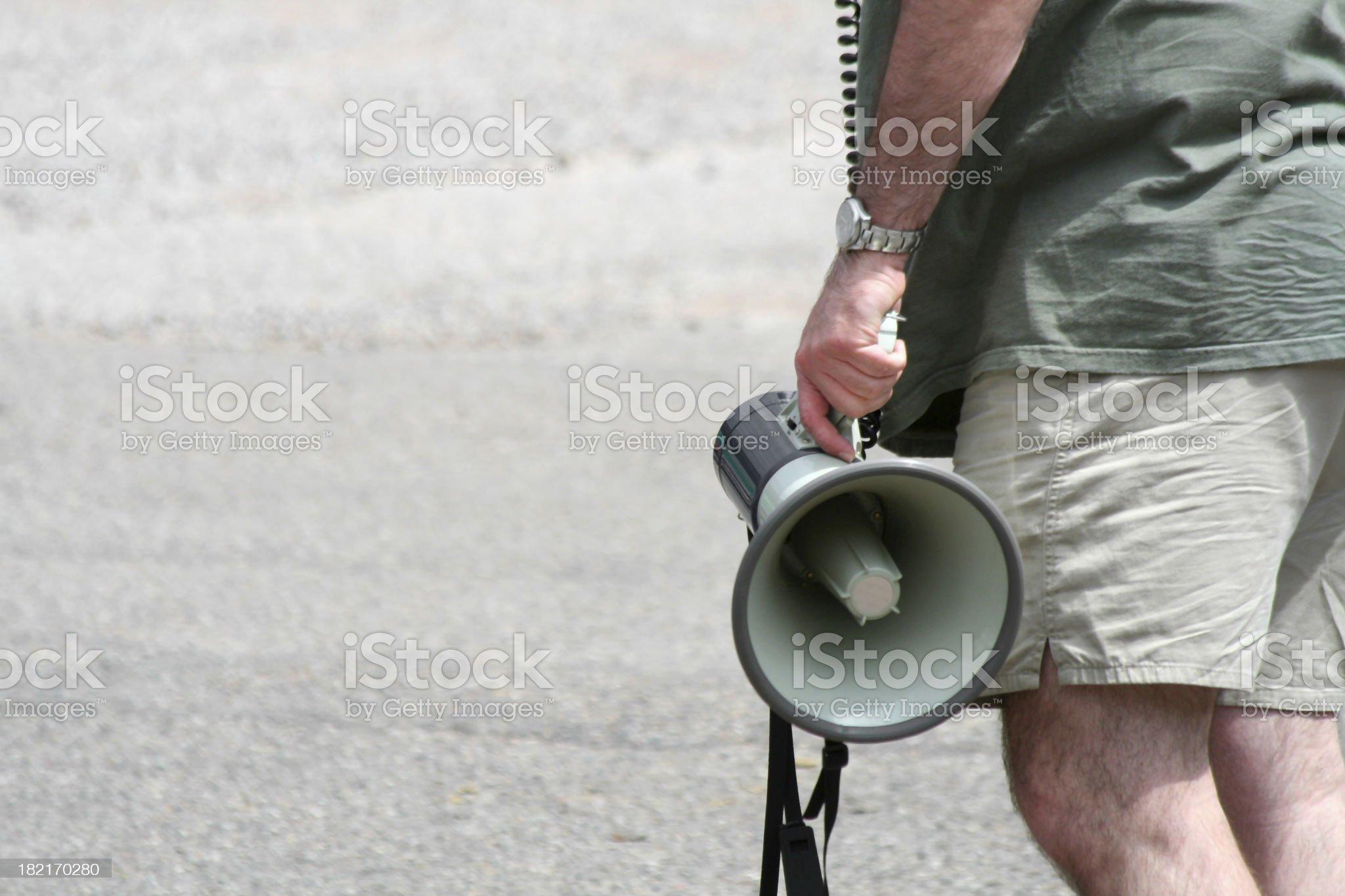 Megaphone royalty-free stock photo