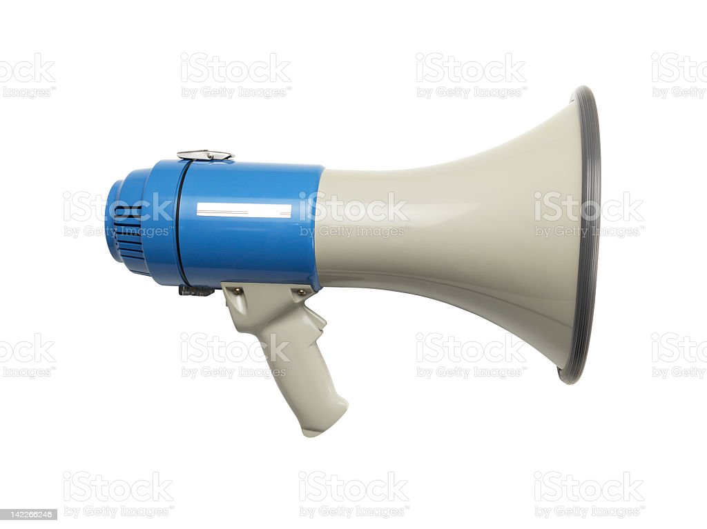 Megaphone+Clipping Path (Click for more) stock photo