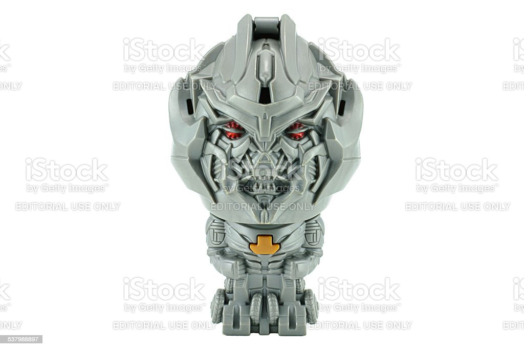 Megatron toy character from TRANSFORMERS Movie series. stock photo