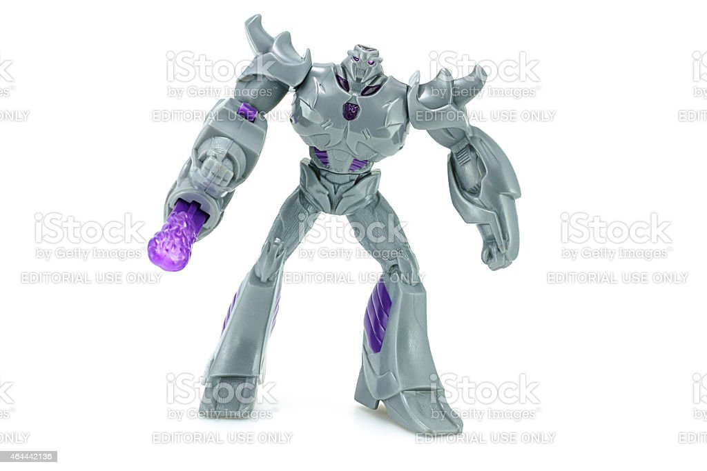 Megatron toy character from TRANSFORMERS Prime animation series. stock photo