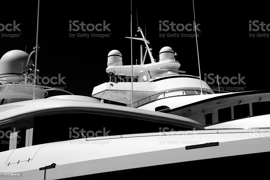 Mega-Yacht Fly Bridges royalty-free stock photo