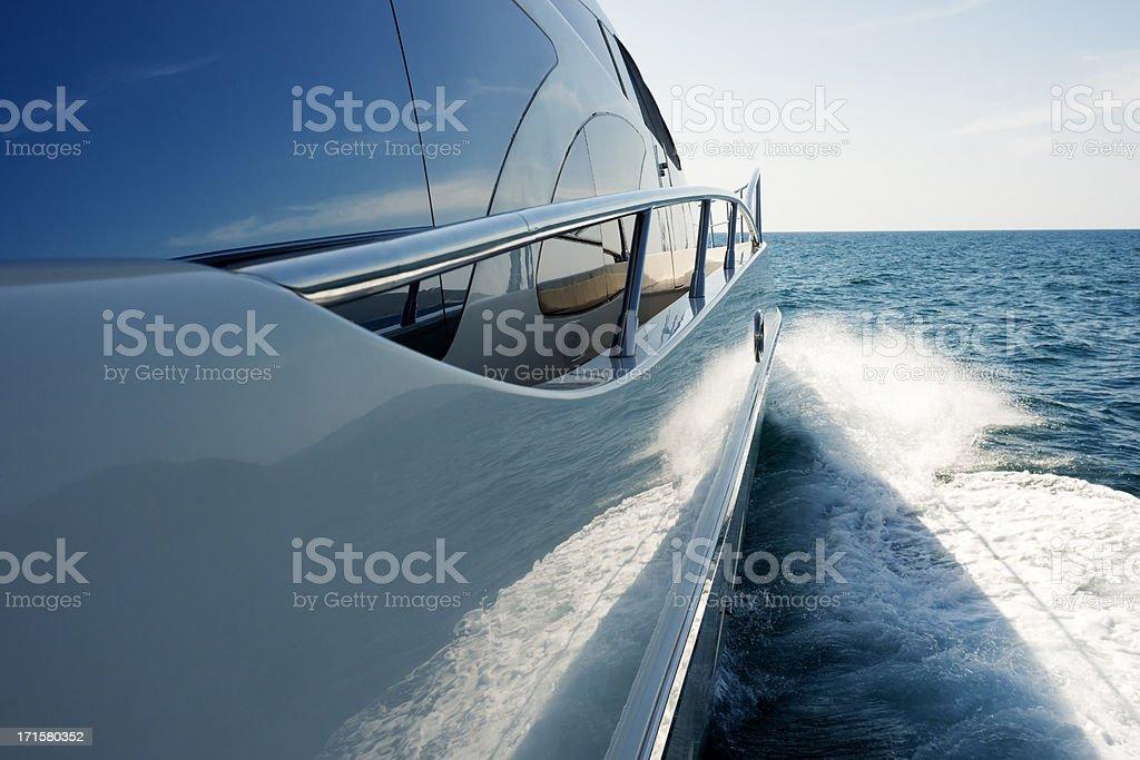 Megayacht stock photo