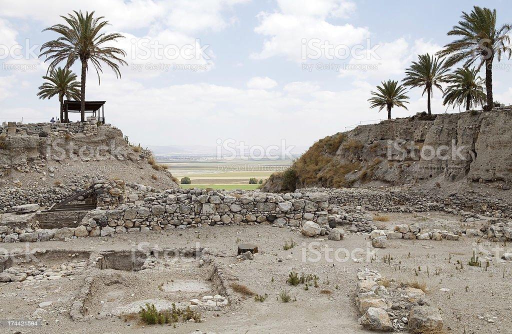 Megiddo ruins royalty-free stock photo