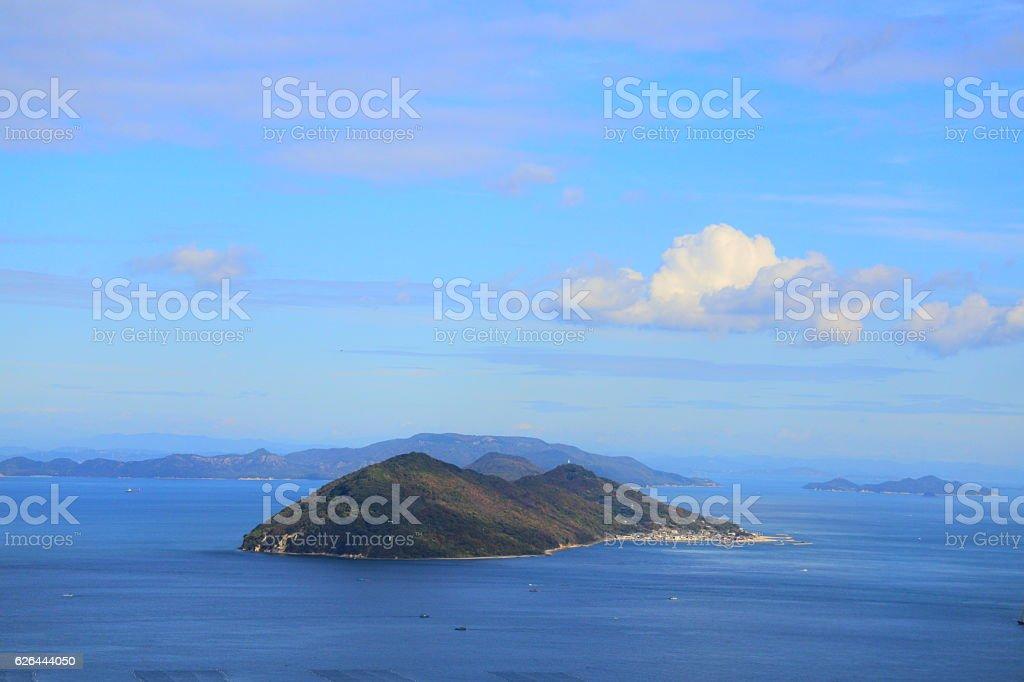 Megi-Jima in the Seto Inland Sea stock photo