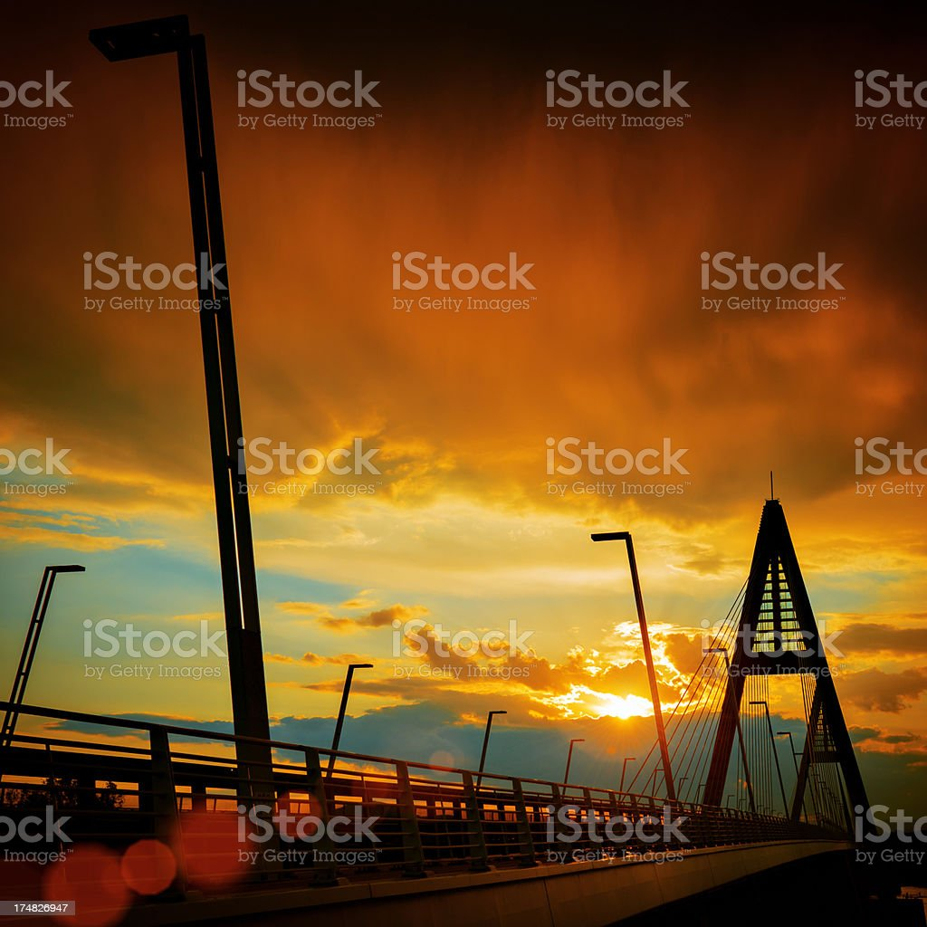 Megyeri Bridge royalty-free stock photo