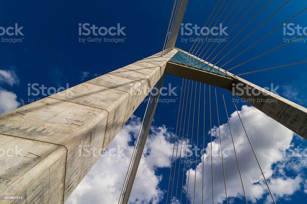 Megyeri Bridge stock photo