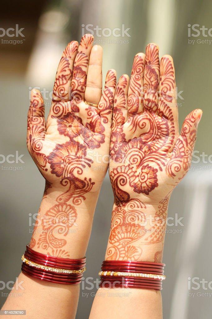 Mehandi Hands stock photo