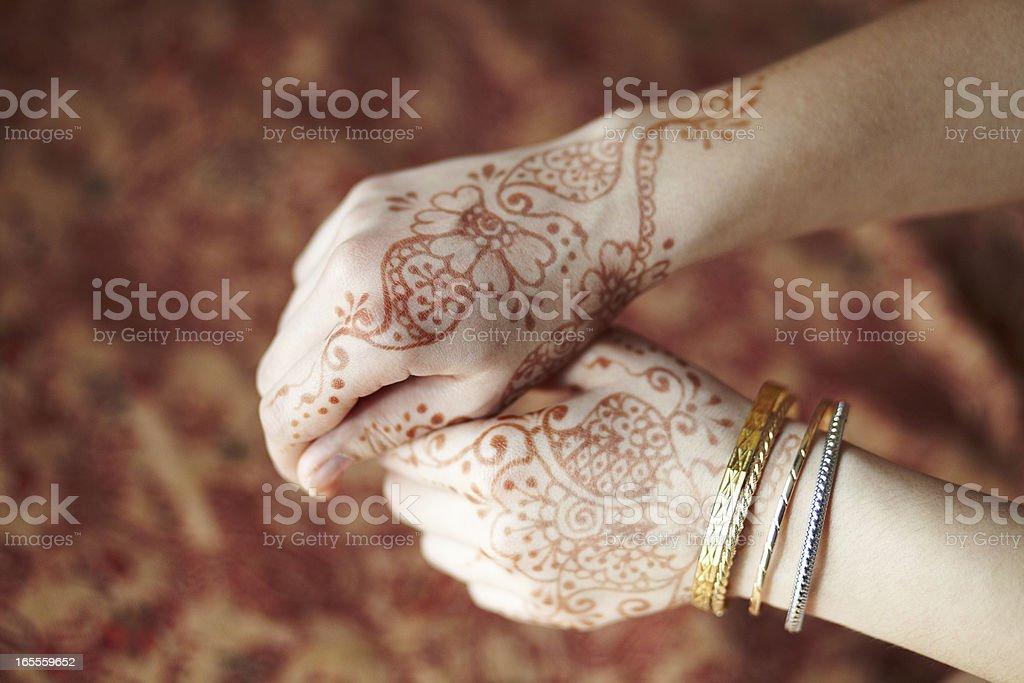 Mehandi foto stock royalty-free