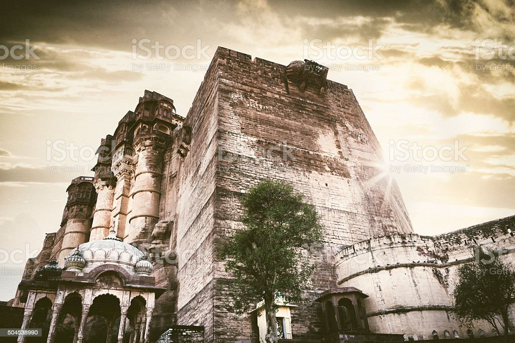 Meherangarh Fort in Jodhpur, India stock photo