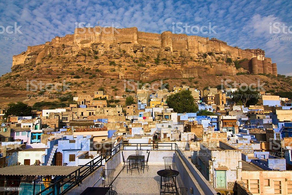 Meherangarh fort stock photo